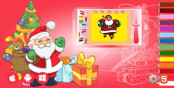 Coloring Book Santa Claus Christmas | HTML5 Construct Game - CodeCanyon Item for Sale
