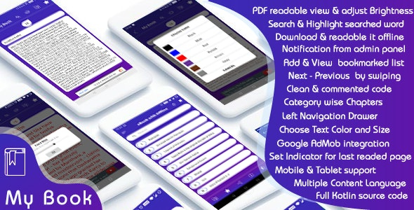 eBook with Offline - Android (Kotlin) - CodeCanyon Item for Sale