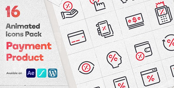 Discount Payment 16 Animated Icons Pack - Wordpress Lottie Json Animation SVG