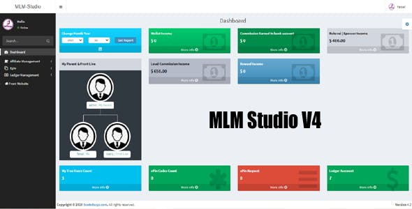 MLM STUDIO - Multilevel Marketing Software asp.net MVC 5 Open Source Application V4 | Binary
