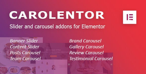 Carolentor: Advanced slider and carousel addons for Elementor WordPress plugin