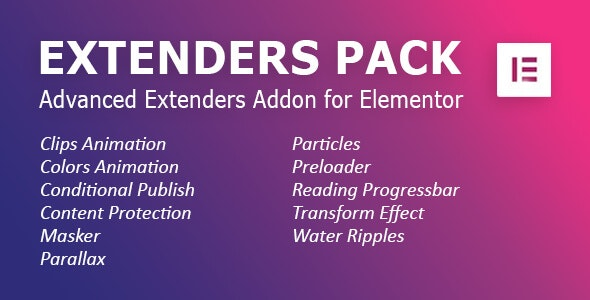 Extenders Pack: Advanced Extenders Addon for Elementor WordPress Plugin - CodeCanyon Item for Sale