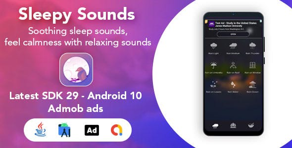 Medditate - Relaxing Meditation Sound App for Android - With Admob Ads
