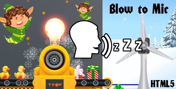 Santa's Factory (HTML5) To Play Blow to Mic