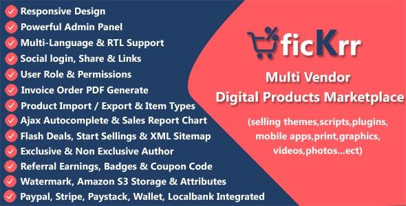 ficKrr - Multi Vendor Digital Products Marketplace