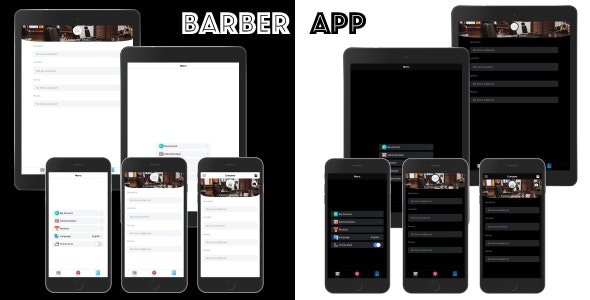 Barber App ionic 5 - CodeCanyon Item for Sale