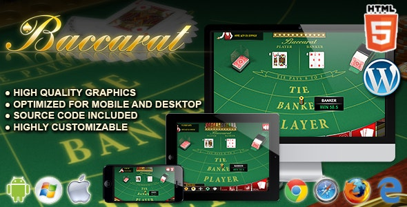 Baccarat - HTML5 Casino Game by codethislab | CodeCanyon