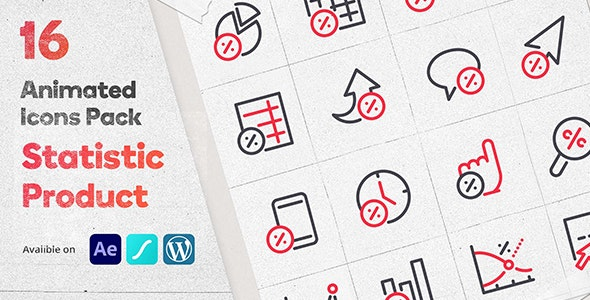 Discount Statistic 16 Animated Icons Pack - Wordpress Lottie Json Animation SVG - CodeCanyon Item for Sale