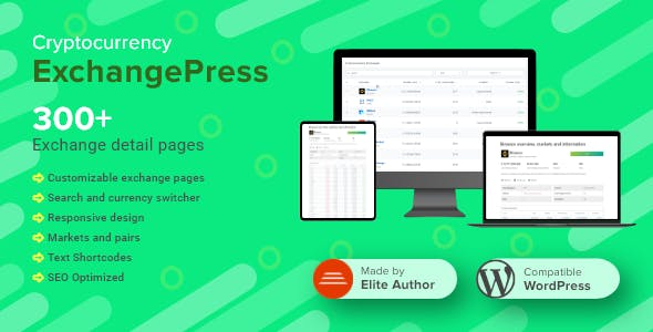 ExchangePress | Crypto Exchanges List & Pages for WordPress