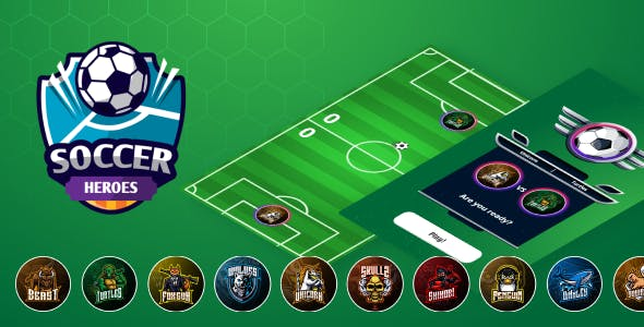 Soccer Heroes - HTML5 Game (Construct 3)