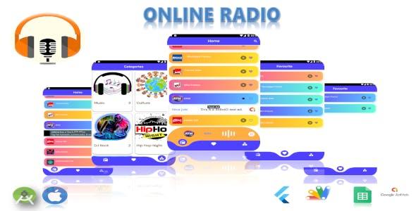 Flutter Online Radio Application (Google Sheets as Backend)