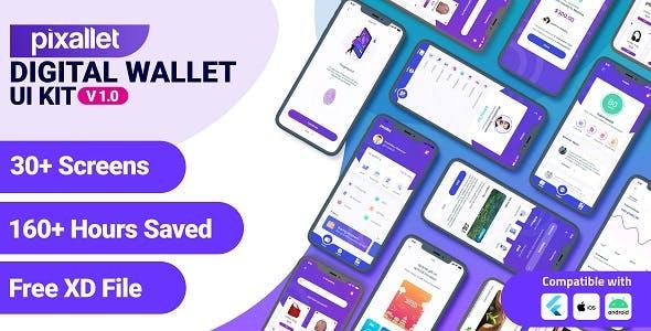 Pixallet - Mobile Wallet Flutter UI Kit