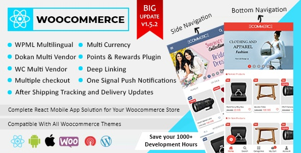 Becrux - React Native Woocommerce Full Mobile App Solution for iOS & Android with App Setting Plugin - CodeCanyon Item for Sale