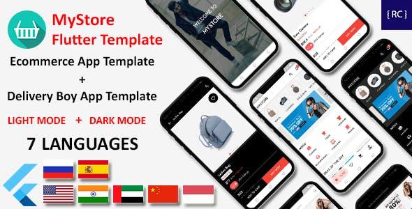 E-Commerce App Flutter Template   2 Apps   User App + Delivery App   MyStore