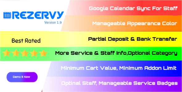 Rezervy - Online Appointment Scheduling & Reservation Booking Calendar - CodeCanyon Item for Sale