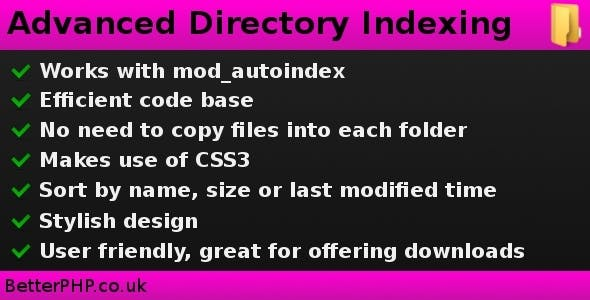 Advanced Directory Indexing