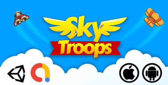 Sky Troops Unity Casual Air Shooter Game for Android and iOS with Admob