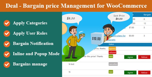 Deal - Bargain price Management for WooCommerce - CodeCanyon Item for Sale