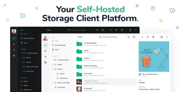 Vue File Manager - Store, Share & Get Files Instantly - Private Cloud Build on Vue & Laravel
