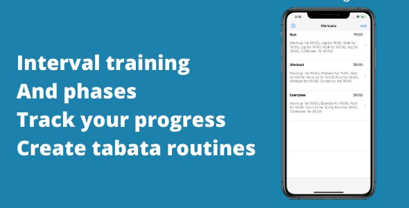 Tabata: Workout Interval Timer - CodeCanyon Item for Sale