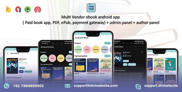 Multi-Vendor ebook ios App (Paid book app, PDF, ePub, payment gateway) + admin panel, Author panel - CodeCanyon Item for Sale