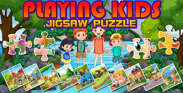 Playing Kids Jigsaw Puzzle Game (CAPX and HTML5)