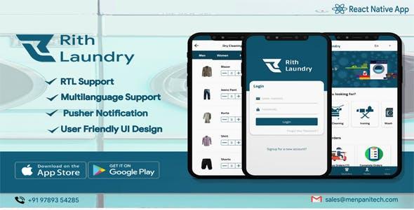 Rith Laundry React Native App