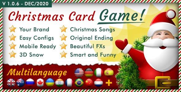 Christmas Card Unleash - Multilanguage Responsive HTML Game