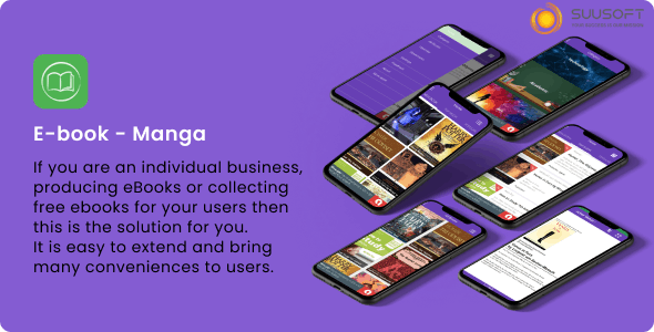 E-book - Manga Android, IOS App - CodeCanyon Item for Sale