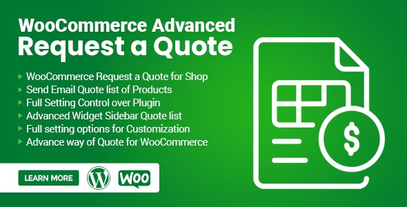 WooCommerce Advanced Request a Quote - CodeCanyon Item for Sale