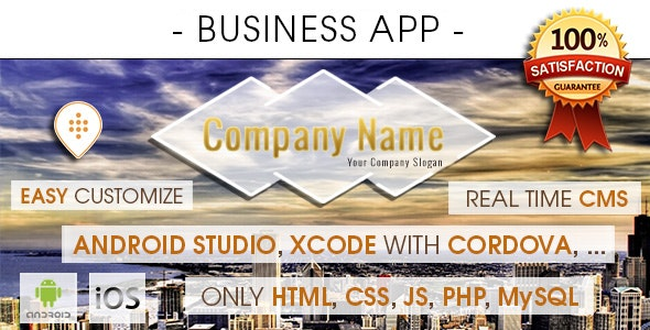 Business App With CMS - Android & iOS [ 2021 Edition ] - CodeCanyon Item for Sale
