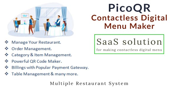 PicoQR - (SaaS) Contactless Digital Restaurant QR Menu Maker