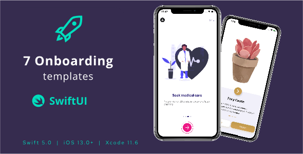 7 Onboarding Screens in SwiftUI templates