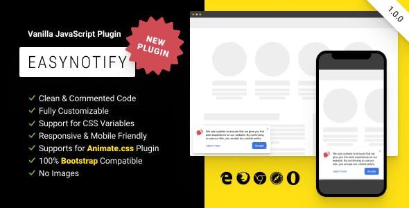 EasyNotify: Lightweight Responsive JS Plugin for Modern Notification
