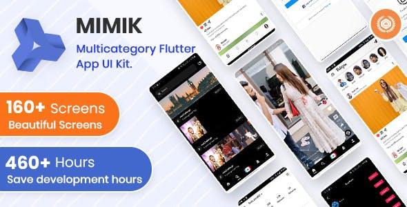 Mimik - Multi Category Flutter App Clone UI Kit