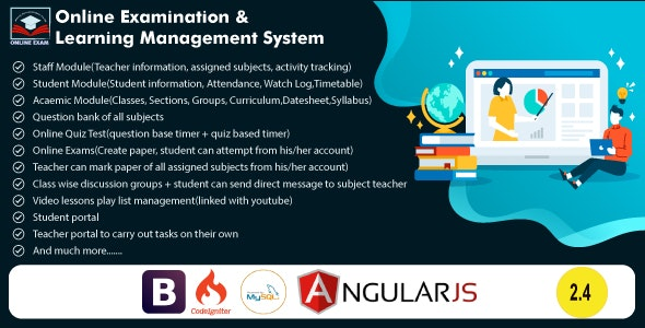 Online Exam and Learning Management System - CodeCanyon Item for Sale