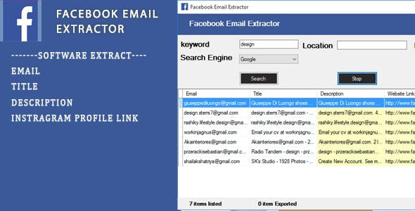 Facebook Email Scraping Tool