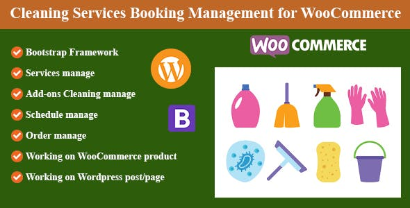 Cleaning Services Booking Management for WordPress and WooCommerce