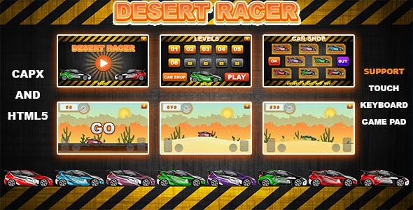 Desert Racer v1.0 (CAPX and HTML5) Car Racing Game