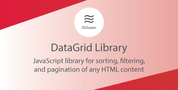 DataGrid - JavaScript Pagination, Sort and Filter