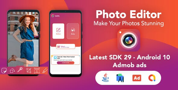 Photo Editor & Body Shape Editor for Android - Admob Ads