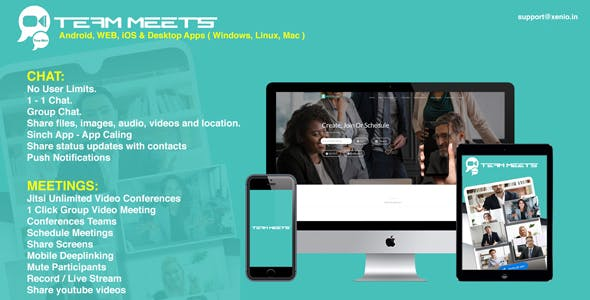 MeetsPro Android Chat, Groups,1-1 Video Calls & Video Conferences