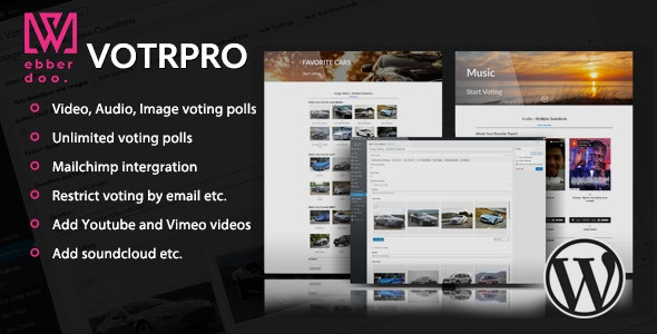 Votr Pro - Easy WordPress Vote Poll Plugin - CodeCanyon Item for Sale