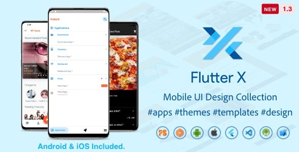 FlutterX (Flutter UI Kits Widgets and Template Collection For iOS & Android) 1.3 - CodeCanyon Item for Sale