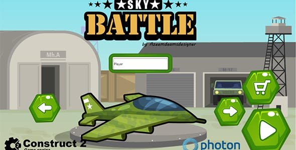 Sky Battle Construct 2 .capx & html5 game