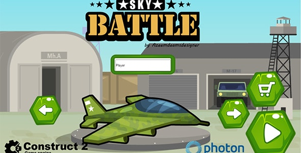 Sky Battle Construct 2 .capx & html5 game - CodeCanyon Item for Sale
