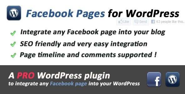 Facebook Pages Integration for WordPress - CodeCanyon Item for Sale