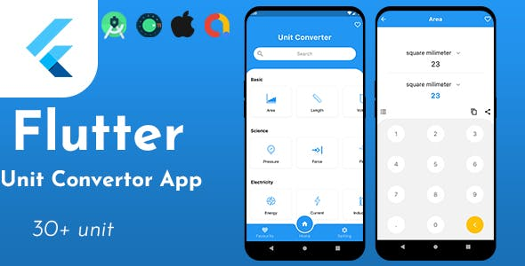 Unit Converter - Flutter Full Application with admob ready to publish
