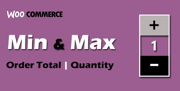 Min and Max Order total, quantity for WooCommerce