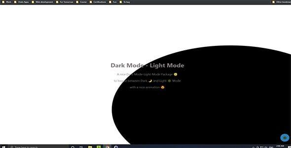 Dark mode - Light mode